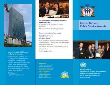 UN Public Service Awards - United Nations Public Administration ...