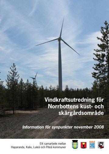 Vindkraftsutredning - Information för synpunkter - Piteå kommun