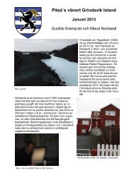 Gunilla Granqvists reserapport - Piteå kommun