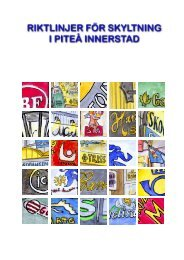 Riktlinjer för skyltning (pdf, 2 MB, nytt fönster) - Piteå kommun