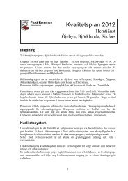 Kvalitetsplan 2012 - Piteå kommun