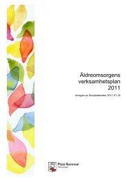 Äldreomsorgens verksamhetsplan 2011 - Piteå kommun