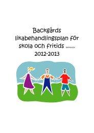 Backgårds likabehandlingsplan för skola och fritids (elevversion ...