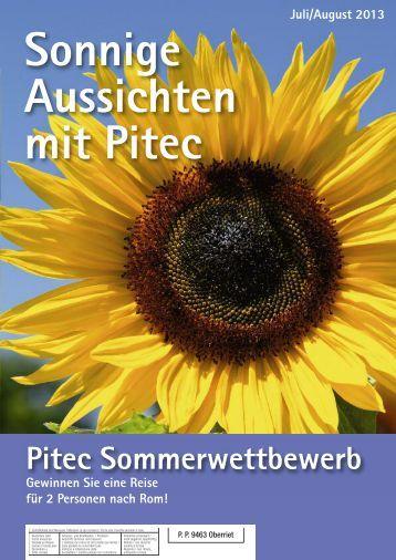 Pitec aktuell Sommerausgabe 2013