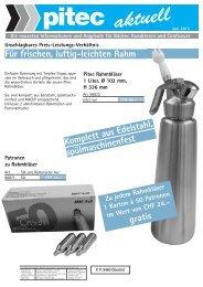 Für frischen, luftig-leichten Rahm - Pitec