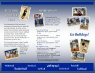 bulldog booster club membership form - Pitt Community College