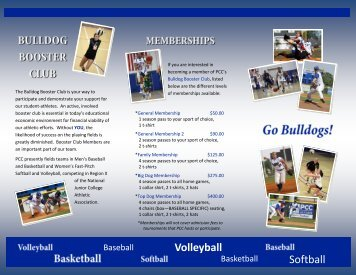 bulldog booster club membership form - Pitt Community College
