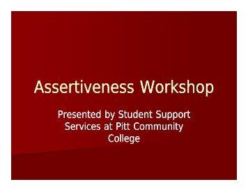 Assertiveness Workshop - Pitt Community College