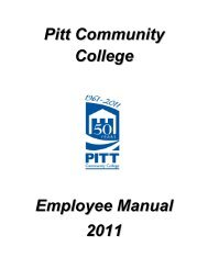 pcc policy and procedure proposal form - Pitt Community College