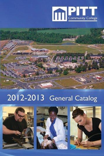 2012 PCC General Catalog - Pitt Community College
