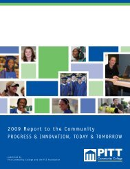 2009 Report to the Community - Pitt Community College