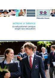 Prospectus - Pittwater House School