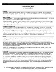 Independent Study Form (with Resource Guide) - Pitzer College