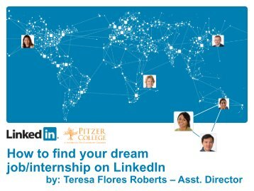 How to find your dream job/internship on LinkedIn - Pitzer College