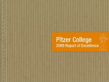 2009 Report of Excellence - Pitzer College