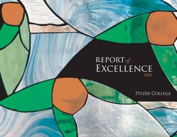 2006 Annual Report of Excellence - Pitzer College