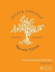 2013-13 Financial Aid Award Brochure - Pitzer College