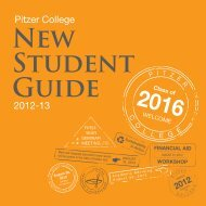 New Student Guide - Pitzer College