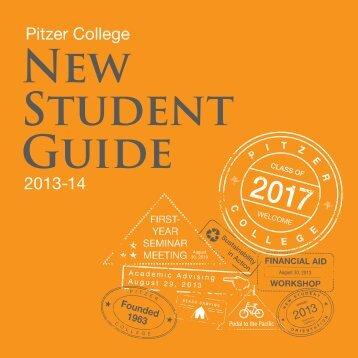 Pitzer College New Student Guide 2013-14