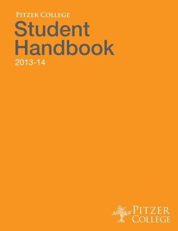 2012-13 Pitzer College Student Handbook