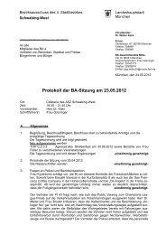 Protokoll der BA-Sitzung am 23.05.2012 - Ackermannbogen