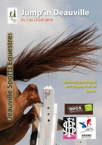 Plaquette sponsors Jump\'in Deauville 2010 - Agence Pixizone