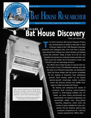 Bat House Discovery - Bat Conservation International
