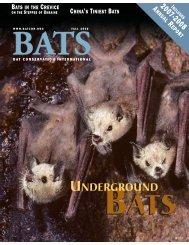 UNDERGROUND - Bat Conservation International