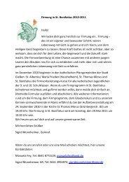 Firmung in St. Bonifatius 2010-2011 Hallo! - St. Bonifatius, Gießen