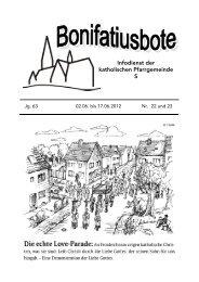 Bote 22 und 23 2012.pub (Schreibgeschützt) - St. Bonifatius, Gießen