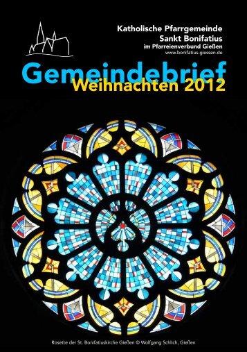 Gemeindebrief - St. Bonifatius, Gießen