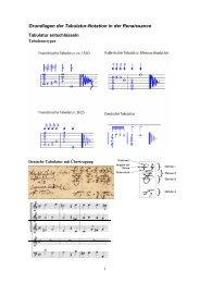 Grundlagen der Tabulatur-Notation in der Renaissance - Thomas ...