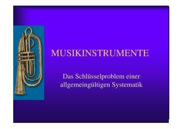 Systematik der Musikinstrumente - Thomas Buchholz - Komponist