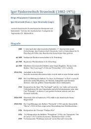 Igor Strawinski: Le sacre du printemps - Thomas Buchholz - Komponist