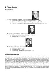 2. Wiener Schule - Thomas Buchholz - Komponist