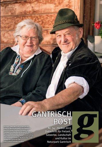 Nr. 34, Herbst 2013 (PDF, 9.2 MB) - Gantrischpost