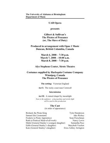2008-03-06 The Pirates of Penzance - UAB - Department of Music ...