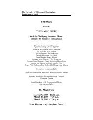 2009-03-19 The Magic Flute - UAB - Department of Music ...