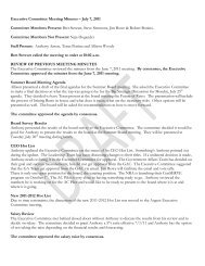 Executive Committee Meeting Minutes – July 7, 2011 Committee ...