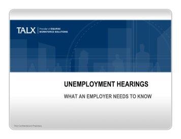 Download TALX presentation on hearings - Washington Restaurant ...