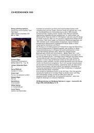 CD-REZENSIONEN 1999 - Klais Orgel, Abtei Himmerod