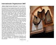 Internationaler Orgelsommer 2007 - Klais Orgel, Abtei Himmerod