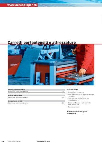 Carrelli portautensili e attrezzature - Derendinger