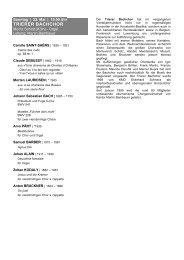 Detailliertes Programm - Klais Orgel, Abtei Himmerod