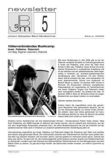 jsbm_newsletter5Maerz2009 - Johann Sebastian Bach Musikschule