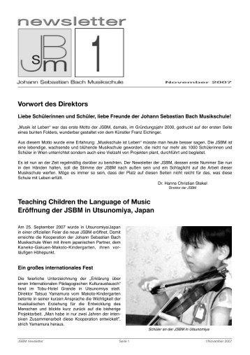 jsbm_newsletter1November2007 - Johann Sebastian Bach ...