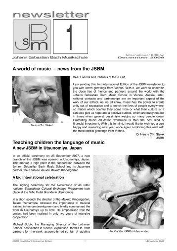 jsbm newsletter int1_Sept_08 - Johann Sebastian Bach Musikschule