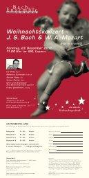 Flyer Weihnachtskonzert - Bach Ensemble Luzern