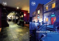 restaurant menu - Chi Bar & Restaurant