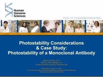 Photostability of a Monoclonal Antibody - IIR